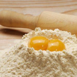 Pasta de espelta no hibridada con huevo